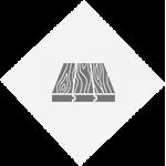 rustic graphic. light grey diamond with dark grey 3-paned wooden floorboards.