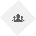 PNG image of employees graphic. light grey diamond with 3 dark grey people, 1 in front & 2 in back.